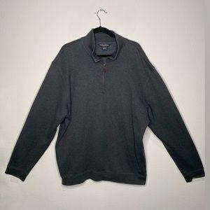 Brooks Brothers Gray Quarter Zip XXL Pullover Top